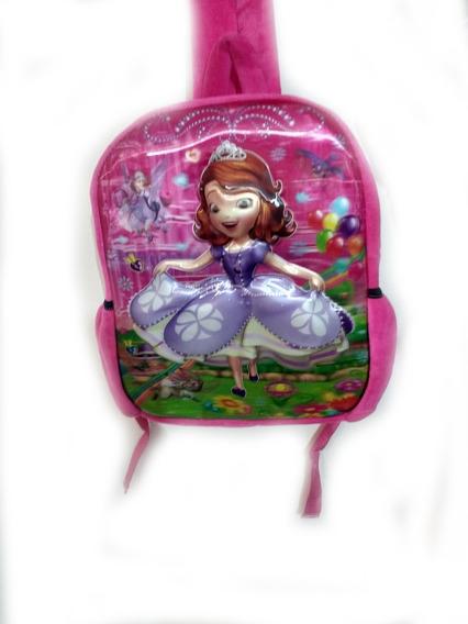 Mochila Escolar Infantil Princesa Sofia 3d Alto Relevo