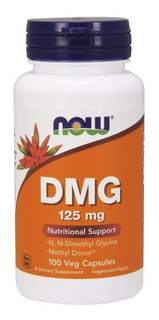 Vitamina B-15 125mg, Dmg Now Foods, 100 Caps Pronta Entrega
