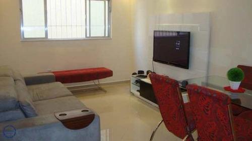 Apartamento Com 2 Dorms, Campo Grande, Santos - R$ 350 Mil, Cod: 19110 - V19110