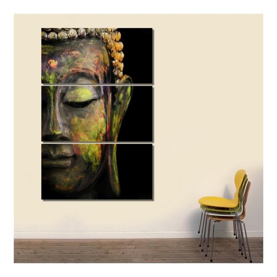 Cuadros Buda Religión India Zen Relax 120x80cm Div Tela