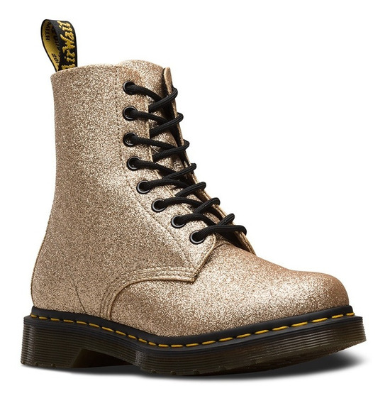 Dr Martens Colombia, Oficial. 1460 Gold Glitter, Mujer