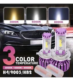 Led H4 Tricolor Garantia Carro