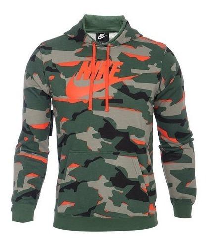 Sudadera Nike Sportwear Camouflage Green Orange (mediana)