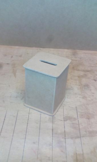 10 Alcancías 7x7x10 Cm Con Base Movil En Fibrofacil