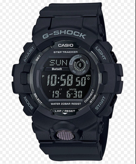 Relogio Casio G-shock Gbd-800-1b G-squad Bluetooth Original