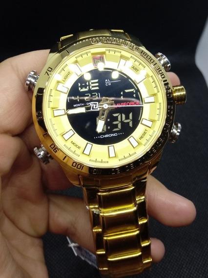 Naviforce 9093 Dourado Com Caixa
