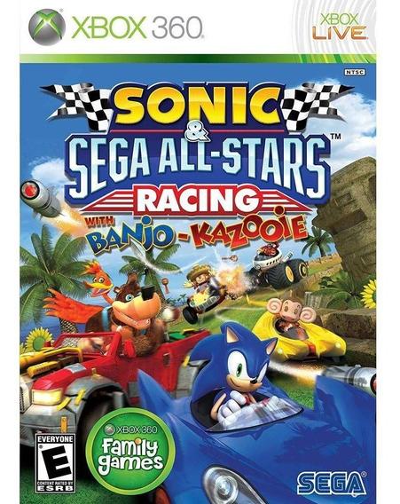 Sonic Sega All Stars Racing Banjo Xbox 360 Mídia Física