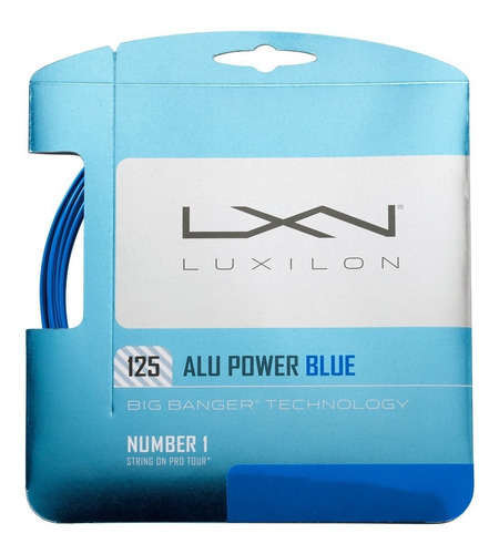 Set Cuerda Luxilon Alu Power Blue 1.25 Made In Belgica 12 Mt