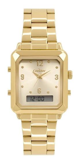 Relógio Feminino Condor Top Cobj3718ab/4x 32mm Aço Dourado