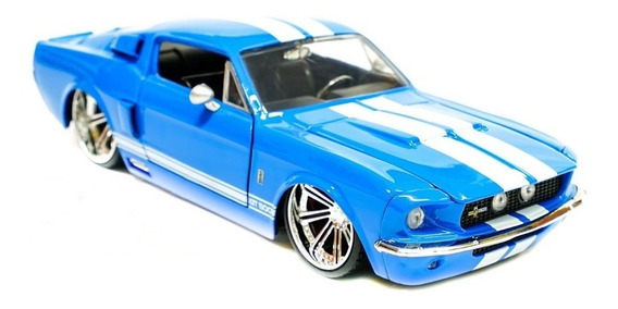 Miniatura Shelby Gt-500 1967 Jada Scala 1:24 Azul