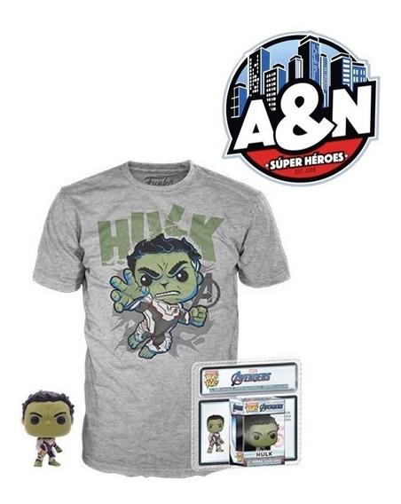 Funko Pop Tees Camiseta Hulk Avengers End Game Con Llavero