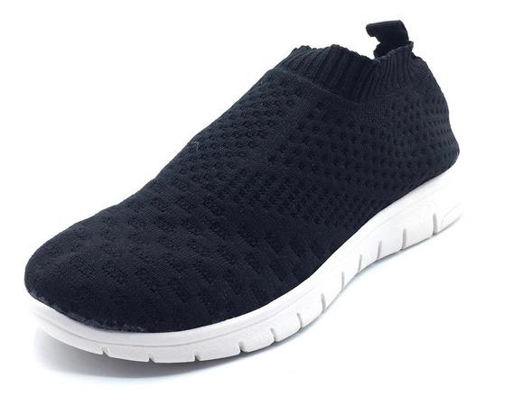 Zapatilla Sneakers Mujer Urbana Tela Plataforma Elástica