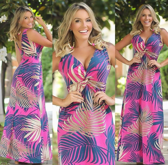 Vestido Longo Feminino Lindo Verão