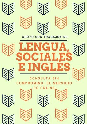 Trabajos De Inglés, Lengua Y Ciencias Sociales. Virtual