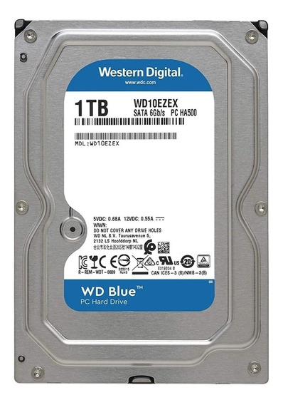 Hd Wd Blue 1tb 7200 Rpm 64mb Sata Wd10ezex-00wn4a0