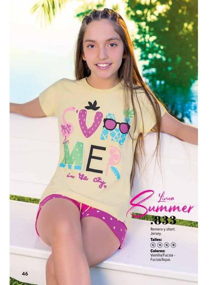 Pijama Verano De Nena Linea Summer Art 833