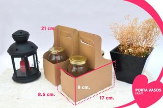Portavasos Cafe Bebidas 2 Cavidades Armable A 4 Carton