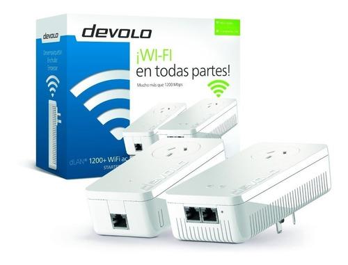 Repetidor Premium Señal Wifi Devolo 1200+ Starter Kit 5ghz * Wifi En Toda Tu Casa Garantia Oficial + Cuotas Sin Interes