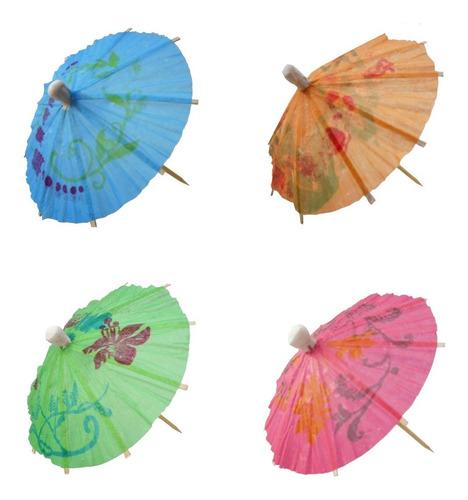 Imagem 1 de 4 de Palitos Decorados Guarda-chuva Para Drinks - 50 Unid.
