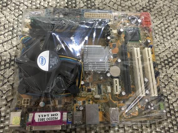 Kit Placa Mãe Asus Ipm31 775+proc Dual Core 2.0+2gb Mem Ddr2