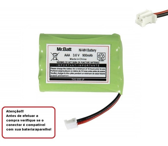 Bateria Para Baba Eletrônica Gprhch93c021 3,6v 900mah Ni-mh