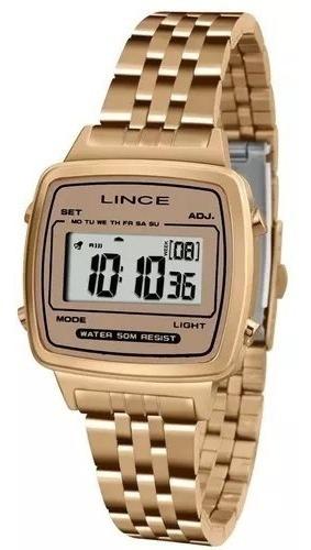 Relógio Lince Digital Sdh041l Bxrx Rose Original
