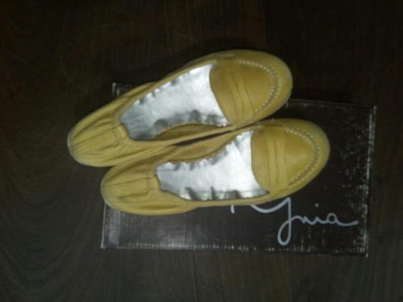 Zapatos Chatitas Cuero. Talle36. Casi Nuevos