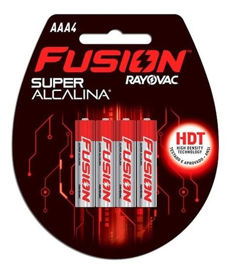 Pilha Super Alcalina Aaa2 2 Unidades Fusion Rayovac Rayovac