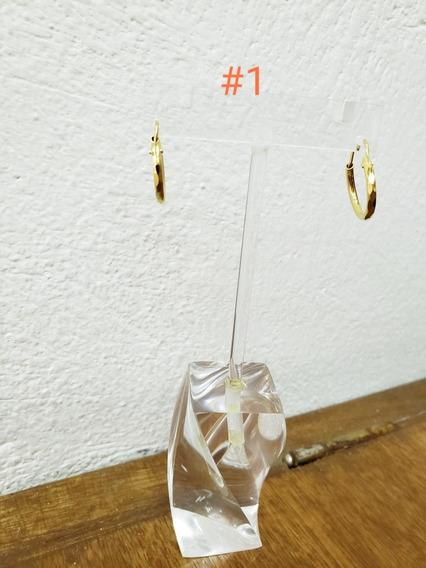 Arracadas De Oro Laminado 10 Pzas. Por Precio Marcado
