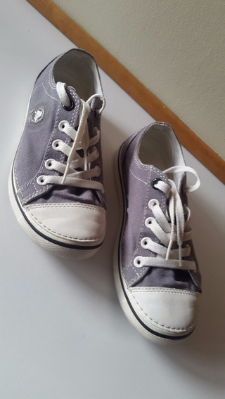 Zapatos Crocs Originales Goma Y Tela Gris Talla 35.5