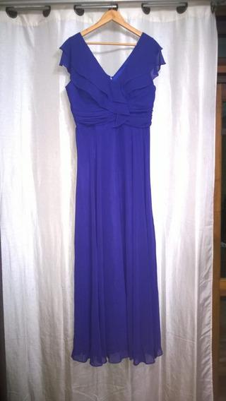 Vestido De Festa Roxo Azulado De Poliéster Tamanho 48