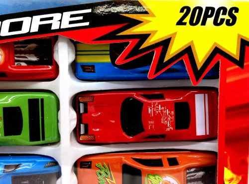 Kit Mini Carrinhos Carro Miniatura 20 Und