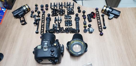 Caixa Estanque Kit Completo P Fotos/ Filme Subaquáticas