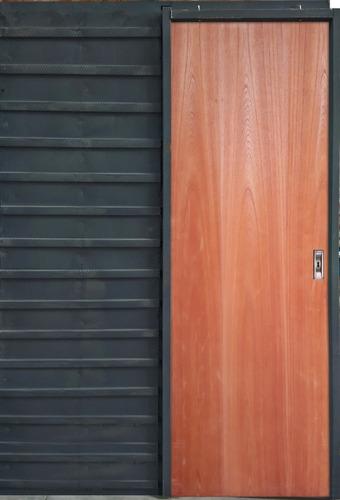 Puerta De Embutir Corrediza Cedro Hoja De 70 Marco Chapa 18