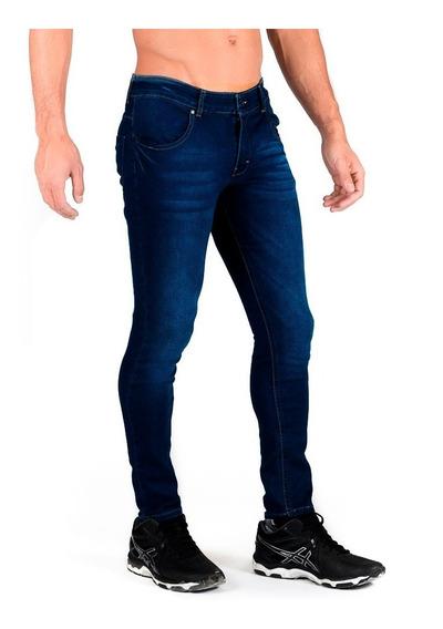 Jeans Pantalón De Mezclilla Caballero Skinny Stone Oscuro
