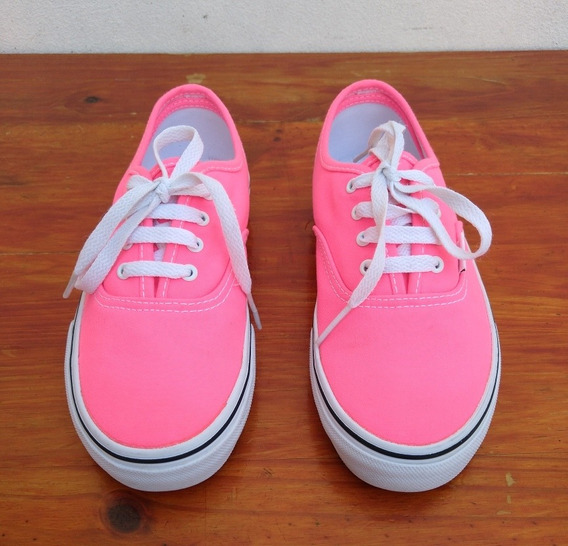 Zapatillas Vans Originales De Color Rosa Chicle Talle 33