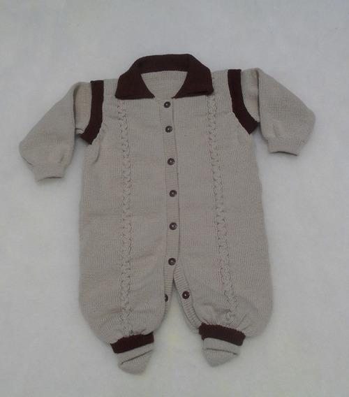 Macacão Bebê Gola Polo Abertura Frontal Veste Fácil Ref.119