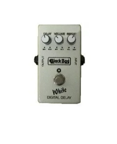 Pedal White Delay Twd Black Bug