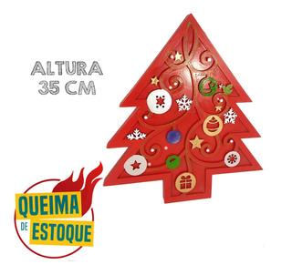 Luminária Árvore De Natal Decorada Enfeite Decoração Mdf Qm