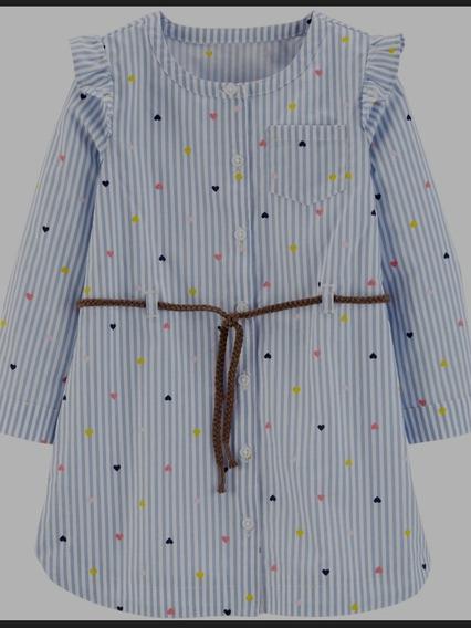 Vestido Infantil Carters - Tamanho 2 Anos
