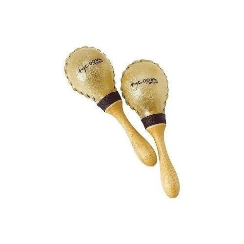 Tycoon Percusión - Pequeño Cuero Crudo Maracas - Marrón
