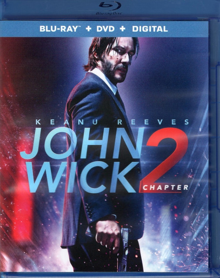 John Wick 2 Nuevo Dia Matar Keanu Pelicula Blu-ray+ Dvd + Dc