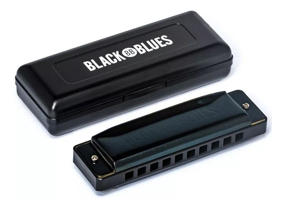 Gaita De Boca Harmônica Black Blues Dó C 6020c Hering Estojo