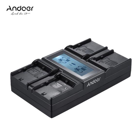 Bateria Da Câmera Digital De 4 Canais Andoer Lp-e6 Lp-e6n Np
