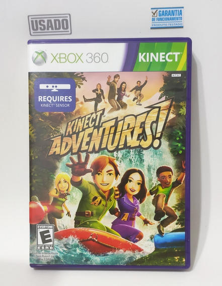 Jogo Kinect Adventures! Xbox-360 Mídia Física Original Usado