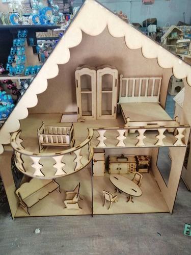 Casa De Muñecas!! Incluye 13 Muebles!! 70 X 63 X 30