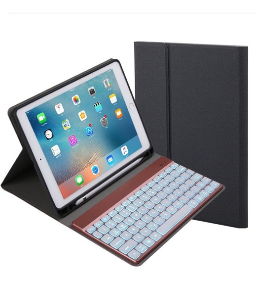 Teclado Bluetooth Capa Silicone iPad Air A1474 A1475 A1476