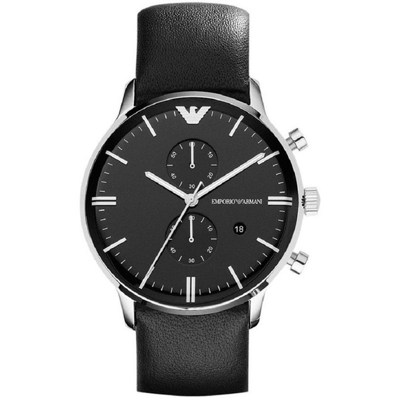 Reloj Análogo Marca Armani Modelo: Ar0397 Color Negro Para C