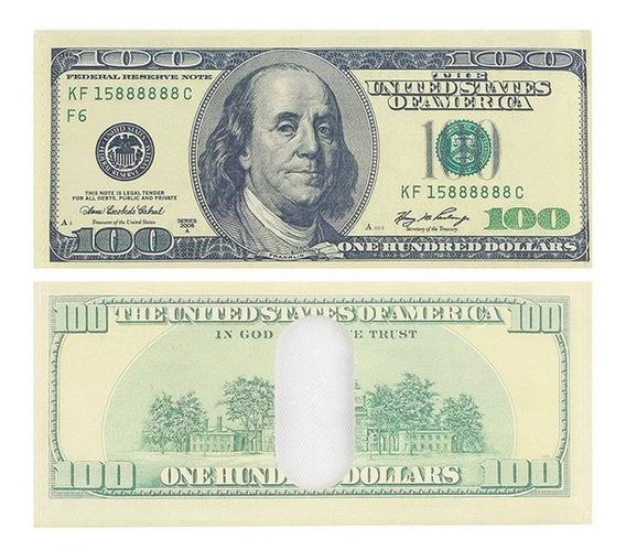 Cartera En Forma De Billete Dollar 100 Dolares Viejo Y Nuevo