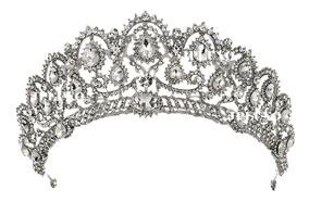 Coroa Noiva Casamento Veu 15 Anos Princesa Tiara Miss Crista